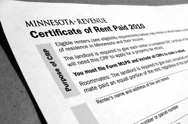 Save the Renters Credit AGAIN – Rent Rebate Form